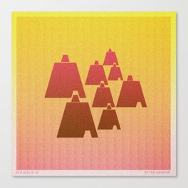 Music in Monogeometry : Broken Bells Canvas Print