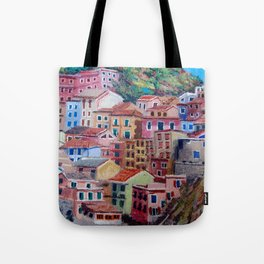 Colourful houses Tote Bag