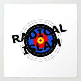 Radical Islam Target Art Print