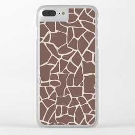 Brown Elephant Clear iPhone Case