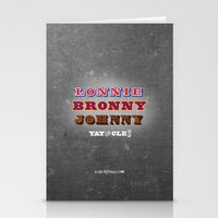 lebron Stationery Cards featuring Lonnie, Bronny, Johnny by Melissa Olson