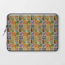 Narrative and Symbolic Signs Pattern Laptop Sleeve