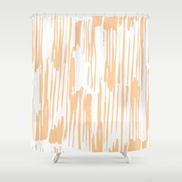 Modern Coral Stripes IV Shower Curtain