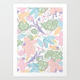 floral pastel spring dreams Art Print