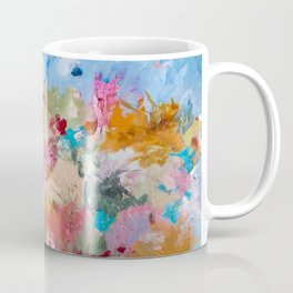 Spring Bloom Flower's Garden Abstract Contemporary Original Art Coffee Mug