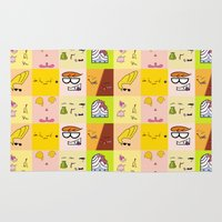 cartoons Area & Throw Rugs featuring Classic Cartoons by DanielBergerDesign
