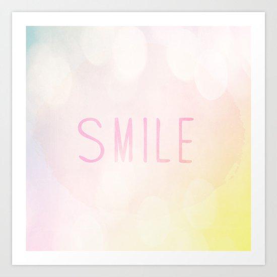 Smile a lot Art Print
