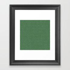 Geo Triangles Avacado Framed Art Print