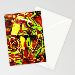 Fluid Painting 2 (Yellow Version) Stationery Cards