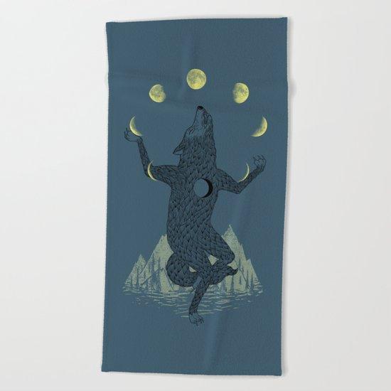 Moon Juggler Beach Towel