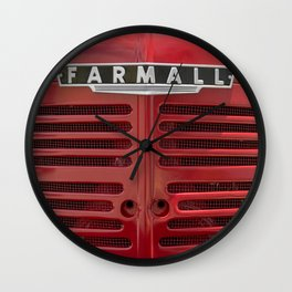 Vintage Farmall M Grill Antique Red Tractor Wall Clock