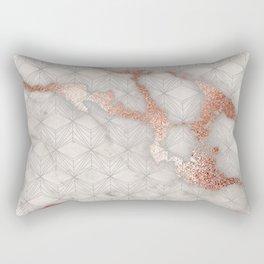 Rose gold marble pattern II Rectangular Pillow