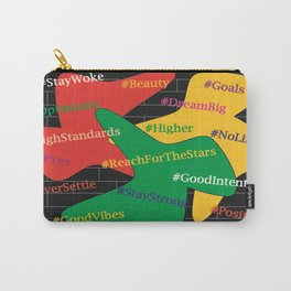 Hashtags Up Carry-All Pouch