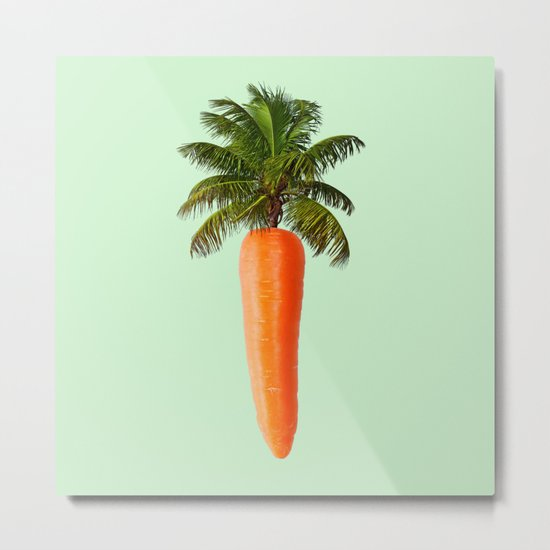 PALM CARROT Metal Print