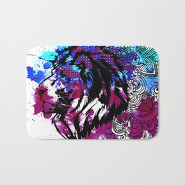 Purple Lion Spirit Bath Mat