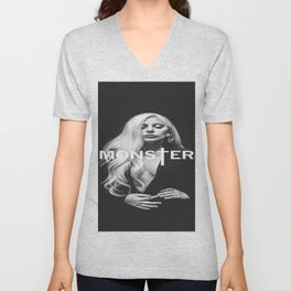 Lady Gaga's Portrait Monster Unisex V-Neck