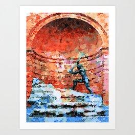 Catanzaro: fountain Art Print