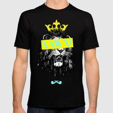 King of The Jungle. MEDIUM Black Mens Fitted Tee