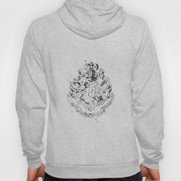 Hogwarts Crest Black and White Hoody