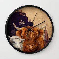 Sheep Cow 123 Wall Clock