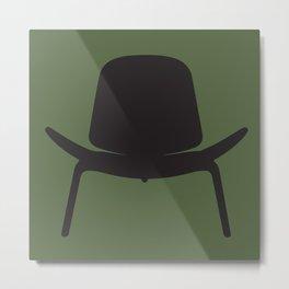 Wegner Chair Silhouette Metal Print