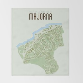 Map of the people's republic of Majorna Throw Blanket