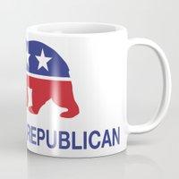 political Mugs featuring California Political Republican Bear  by Republican