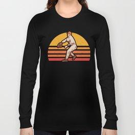 Retro Vintage Baseball Pitcher Gift Baseball Lover Long Sleeve T-shirt