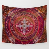 chakra Wall Tapestries featuring Root Chakra by brenda erickson