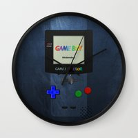 gameboy Wall Clocks featuring GAMEBOY COLOR by Smart Friend