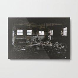 Deteriorating Abandoned Building Metal Print