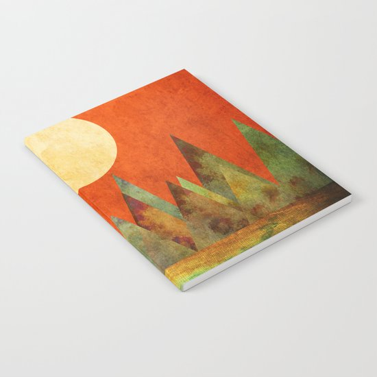 Many Moons Ago, Abstract Landscape Art Notebook