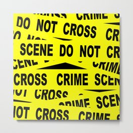 Crime Scene Tape Metal Print