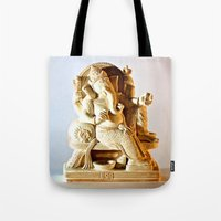 ohm Tote Bags featuring Ohm by Will D'angelo