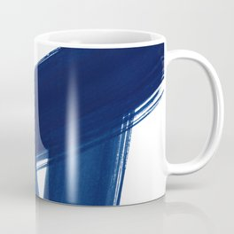 Indigo Abstract Brush Strokes | No. 4 Coffee Mug