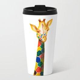 Giraffe Watercolor Print Travel Mug