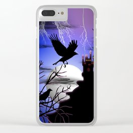 Raven's Haunted Castle Clear iPhone Case