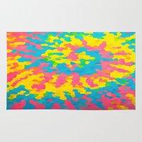 tie dye Area & Throw Rugs featuring Tie Dye by Jillian Stanton