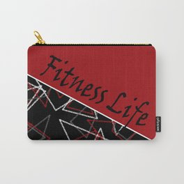 The fitness club . Red black creative pattern . Carry-All Pouch