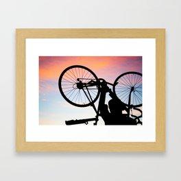 Bike Silhouette Framed Art Print