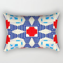 COMPLEXITY IS NOT CHAOS #2 - RED/BLUE Rectangular Pillow