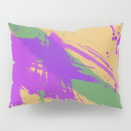 Intrepid, Abstract Brushstrokes Pillow Sham