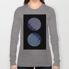 Two Moons - Purple and Blue Long Sleeve T-shirt