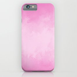 Pink abstract grunge texture looking cute iPhone Case