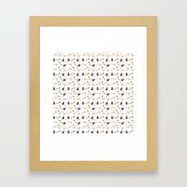 Hamsters and Macarons Framed Art Print