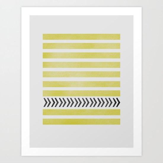 STRIPES AND ARROWS Art Print