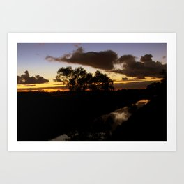 On the banks of the mighty river. Art Print