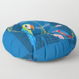 Squeaky Beakies With Freaky Tikis Floor Pillow