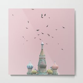 minimal moskow Metal Print