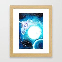 Celestial hummingbird Framed Art Print